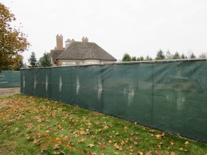 Temporary fence for construction privacy screening