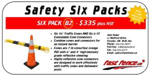 Traffic safety save with safety six packs